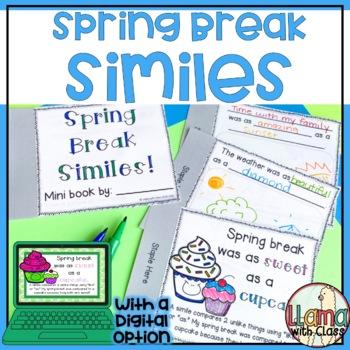 Spring Break Simile: Mini Booklet