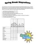 Spring Break Staycations - A Logic Puzzle