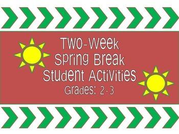 Spring Break Student Activities Calendar/Checklist