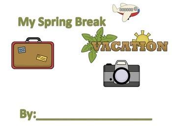 Spring Break Vacation Booklet!
