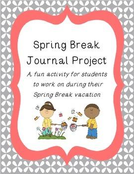 Spring Break Vacation Journal Activity