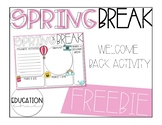 Spring Break Welcome Back FREEBIE