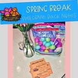 Spring Break Welcome Back Note!