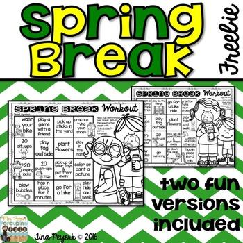 Spring Break Workout: Encouraging Physical Activity over Spring Break