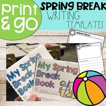 Spring Break Writing Activities