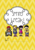 Spring Break Writing Book