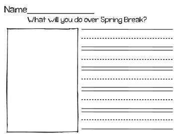Spring Break Writing & Drawing