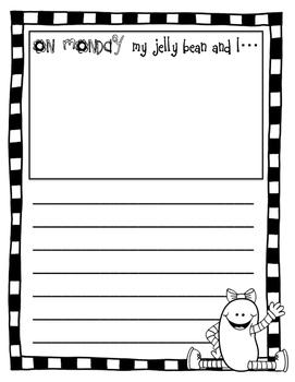 "Spring Break Writing - Jelly Bean Journal - ""Flat Stanley"""