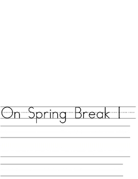 Spring Break Writing Paper