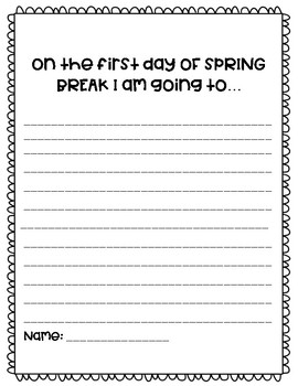 Spring Break Writing Prompts