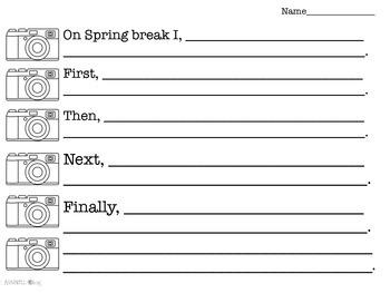 Spring Break Writing Snapshots