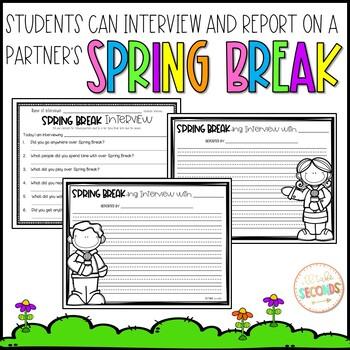 Spring Break Writing and Craft