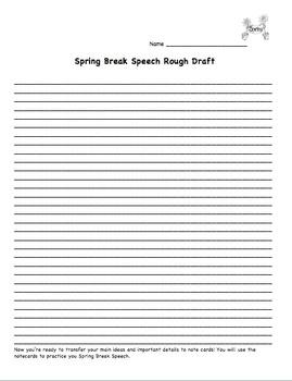 Spring Break Writing and Speech