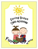 Spring Break activities common core