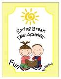 Spring Break activities common core