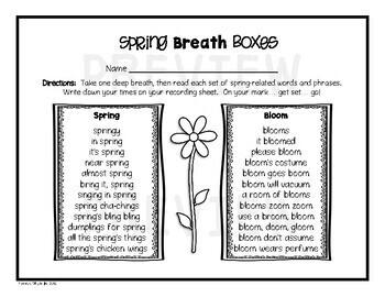Spring Breath Box Fluency Practice