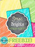 Spring Bright Scribbles Digital Paper **Freebie**