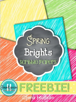Spring Bright Scribbles Digital Paper **Freebie**