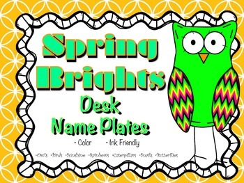 Spring Brights Desk Name Plates (Name Tags)