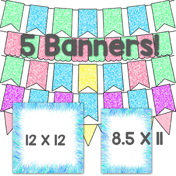 Spring Brights TPT Seller Digital Design Pack - Digital Papers & Frames