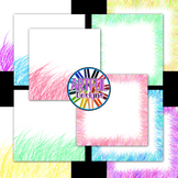 Spring Brights TPT Seller Digital Design Pack Papers and Frames