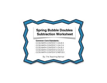 Spring Bubble Doubles Subtraction