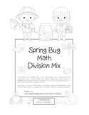 """Spring Bug Math"" Mixed Division – Common Core - Division Fun! (black line)"