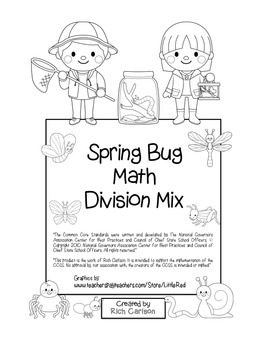 """""""Spring Bug Math"""" Mixed Division – Common Core - Division"""