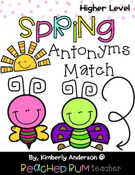 Spring Buggy: Antonyms Match Center (Higher Level)