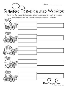 Spring Buggy: Compound Word Match Center