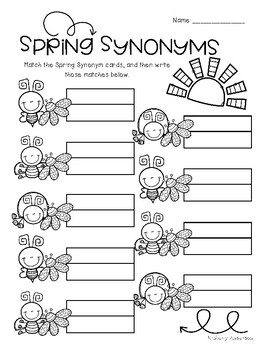Spring Buggy: Synonyms Match Center (Basic)