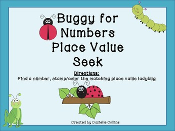 Spring Buggy for Numbers Place Value Seek