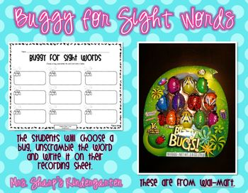 Spring - Buggy for Sight Words - Word Work (FREEBIE)