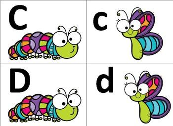Spring Bugs Alphabet Letter Match