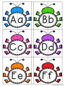 Spring Bugs Alphabet Matching - Upper case and Lower case Match Activity