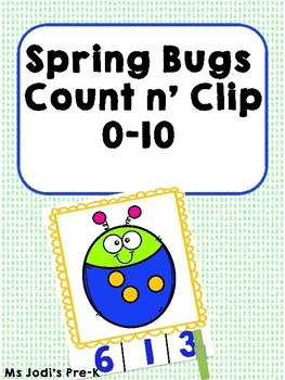 Spring Bugs Count n' Clip