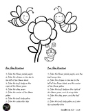 Spring Bugs Following Directions Activity