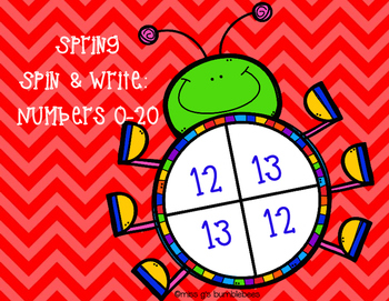 Spring Bugs Spin and Write: Numbers 0-20