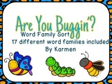 Spring Bugs Word Family Sort