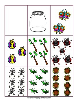 Bugs in a Jar Math Activities