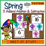 Spring Build 3 Addend Addition & Subtraction Number Sentences