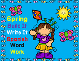 Silabas:  Spring Themed Spanish Syllables Word Work, Build