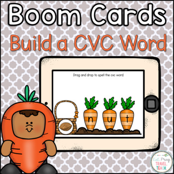 Spring Build a CVC Word Boom Cards