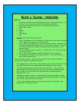 Spring Build a Scene Umbrella