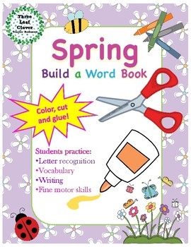 Spring Build a Word Book - Color, Cut and Glue Activity