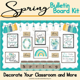 Spring Bulletin Board Farmhouse Rustic Chic
