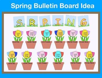 Spring Bulletin Board Idea By Maritza Good Tpt