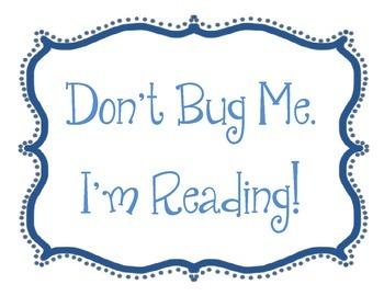 Spring Bulletin Board Idea Set.  Bugs.  Don't Bug Me.  I'm Reading.