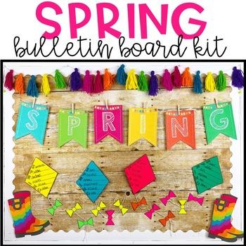 Spring Bulletin Board Kit -Acrostic Poem Activity! March / April