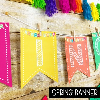 Spring Bulletin Board Kit -Acrostic Poem Activity!